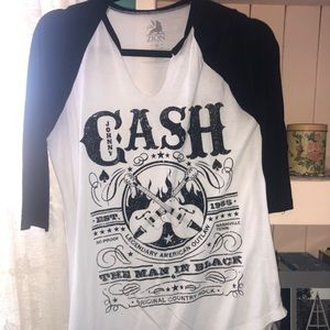 Cute Johnny Cash elbow shirt
